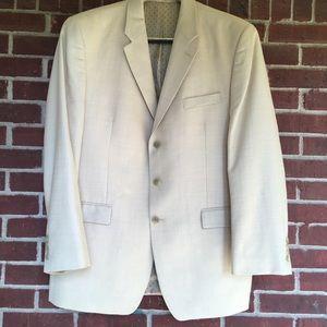 Ralph Lauren Black label 46L Men Cream Blazer Coat